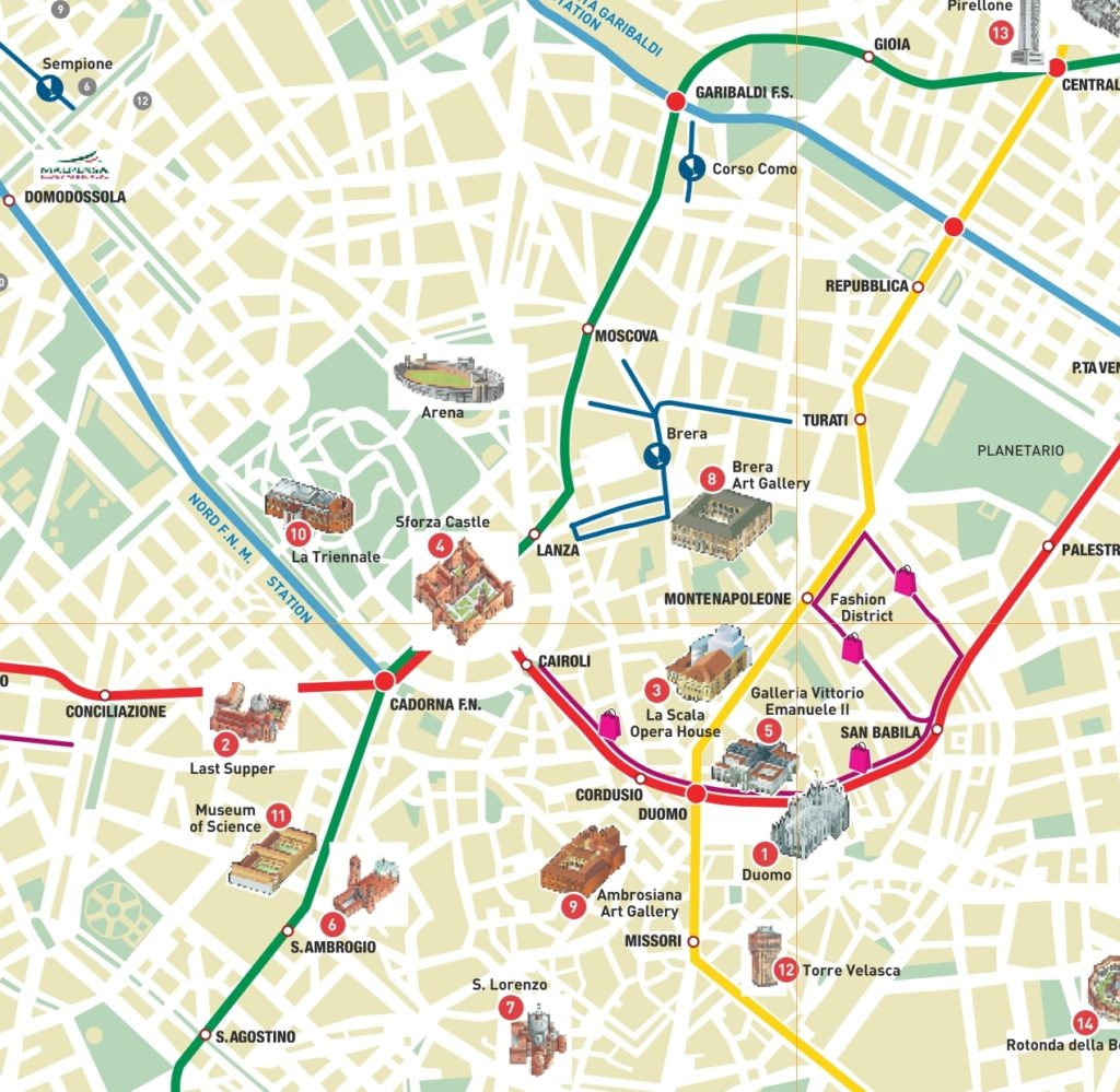 milan-tourist-attractions-map