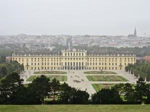 Schonbrunn with Vienna Background