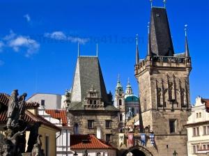 Tower & St Nicholas Chruch, Prague