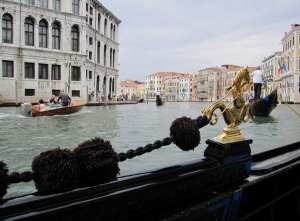View from Gondola, Gand Canal, Venice, Italy